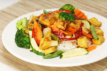 Tofu Stir Fry with Garlic Sauce